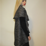 Wool Blend Boucle Cape