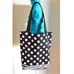 Medium Tote Bag - Black & White Polka Dot & Zebra Print
