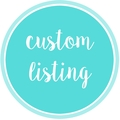 CUSTOM LISTING - for Alison