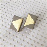 GEO Gold + Grey Studs