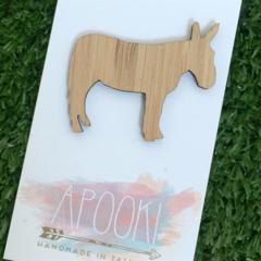 Donkey Bamboo Brooch