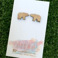 Buy 3 get 4th FREE Bamboo Bear Earrings