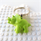 DINO-TASTIC - Triceratops lime green dinosaur bag tag