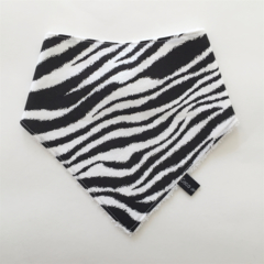 Zebra Print Bandana Bib