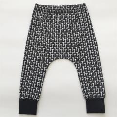 Monochrome Harem Pants