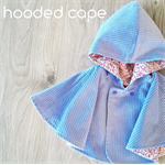 Size 000-3 Reversible Hooded Cape