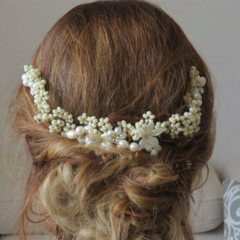 Flower crown, Wedding Hair piece, Boho Bridal head piece, bridal hair piece,