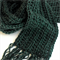 Powder Blue Knitted Scarf Hand Crochet Extra Long Scarves - Fringed
