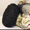 Black Linen Vintage Style  round cushion-FREE POST