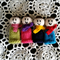 Hand knitted finger puppets. Set of four. Made to order, you choose colour/style