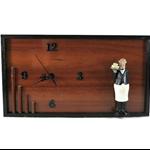 Unique Wall Clock, Kitchen Decor, Wooden Clock, Kitchen Butler Figurine