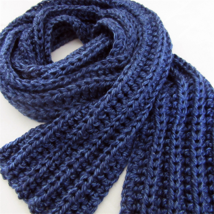 Blue Knit Scarf, Crochet, Long Winter Scarf, Mens Scarves, Unisex Sesen Fas...