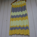 chevron baby blanket | lemon, grey, bright yellow| unisex, birthday gift, travel