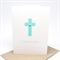 Confirmation Day Card - Blue Polkadot Cross - REL006