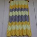 chevron baby blanket   lemon, grey, bright yellow  unisex, birthday gift, travel