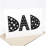 Father's Day Card / Birthday Card - Dad Monochrome Alpha - HFD024 / Card for Dad