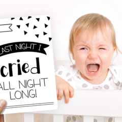 Novelty Monochrome Baby Moments and Milestones Cards - 16 pack