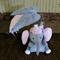 Baby Nursery Decor Felt Elephants, Babies Shower Gift, Grey Elephant Gifts