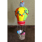 Mobile Hot Air Balloon, Baby Mobiles, Babies Nursery, Shower Gift, Farm Animals