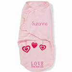 Personalized Baby Girl Swaddle Wrap cotton aunt - Swaddling Blanket -  Blanket