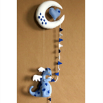 Baby Nursery Mobiles Gift Moon Heart And Dragon Mobile Babies Shower Decor Gifts