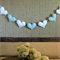 Hearts Garland, Custom Fabric  Banner, 7 Heart Bunting, Wall Art Decor