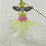 Pink Lemon Fairy Angel Bookmark Original OOAK  by Top Shelf