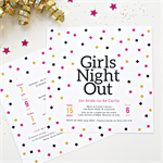 Printable Bachelorette/Hen's Night/Girls Night Out Invitation - Confetti