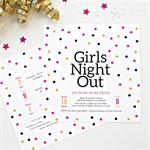 Printable Bachelorette/Hen's Night/Girls Night Out Invitation - Confetti