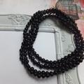 Custom listing for Christine Black Gemstone Necklace