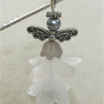 Grey White Fairy Angel Bookmark Original OOAK  by Top Shelf