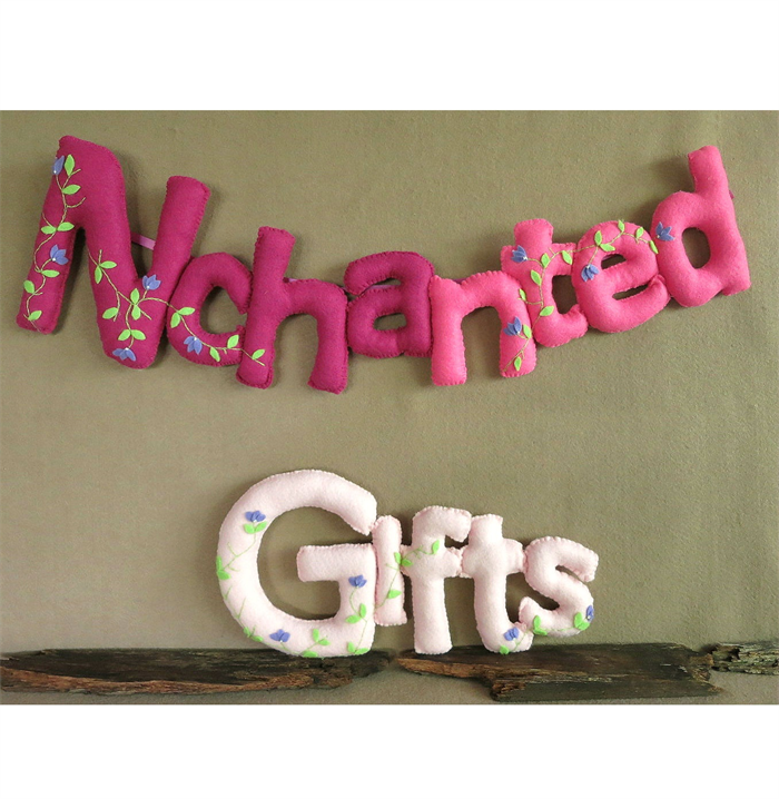 personalized name banner custom felt fabric bunting baby wall art
