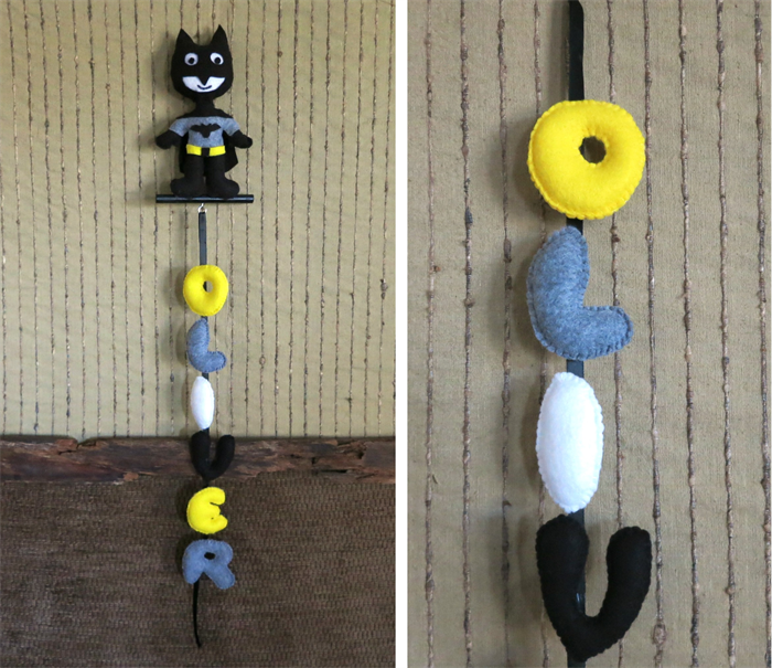 batman personalized name banner 6 fabric mobiles baby bunting
