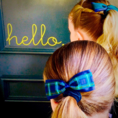 School Ponytail Pair - double colour of your choice