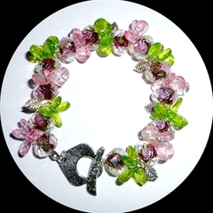 Pink and green bracelet