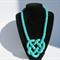 Fashion Elegant Designer Turquoise big sand beads knitted necklace