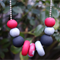 Polymer clay beaded necklace,polymer clay jewellery,statement necklace,FREE post
