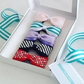 Single Patterned Ponytail Bow - custom colours on snagless elastic