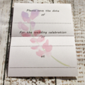 Save the date for wedding cards with water colour flowers