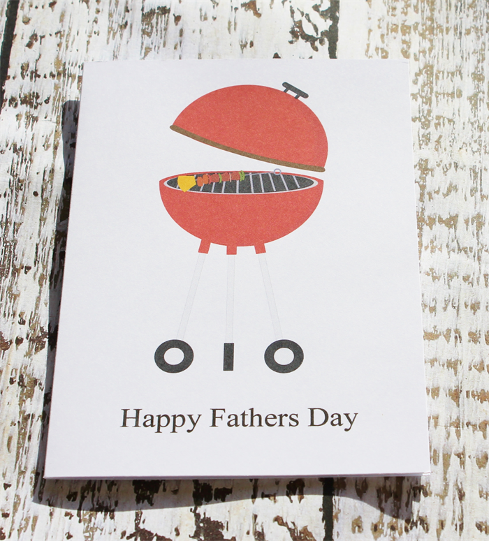 Father's Day Card with BBQ | Sambreezie