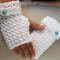 Fingerless Gloves, Gloves, Crochet Gloves,  Womens Gloves, White Gloves