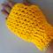 Fingerless Gloves, Gloves, Crochet Gloves, Womens Gloves, Yellow Gloves