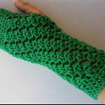Fingerless Gloves, Gloves, Crochet Gloves,  Womens Gloves, Green Gloves