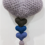 Felted Crochet Wall Hanging Hearts