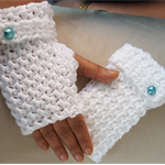 Fingerless Gloves, Gloves, Crochet Gloves,  Womens Gloves, White Gloves