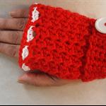Fingerless Gloves, Gloves, Crochet Gloves,  Womens Gloves, Red Gloves