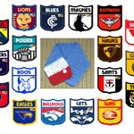 AFL Football Neckwarmer, Crochet Neck Warmer, Crochet Scarf, Chunky Wool, AFL