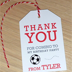 Kids party Thank you gift tags - football soccer or basketball