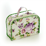 Custom made soft mini fabric suitcase