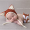 Baby Fox Bonnet / Unisex Newborn Photography Prop / Unisex Prop / Fox Hat